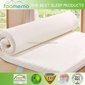 Velvet Fabric Price Baby Memory Foam Mattress Topper
