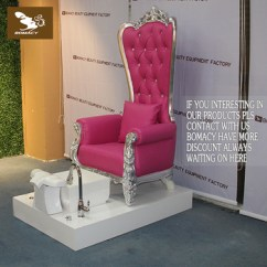 Pink Nail Salon Chairs Upholstered Parsons Dining Room Bomacy Hot Manicure Chair With Wood Spa Pedicure