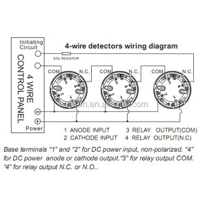 Lpcb Approved Optical Conventional 4 Wire Smoke Detector