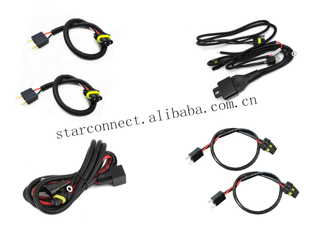 Xenon Hid H4 Electrical Automobile Relay Harness Wire 12v