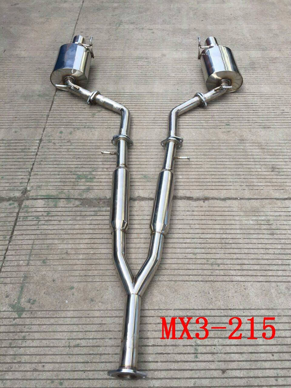 infiniti g35 g37 sedan 07 14 y pipe back exhaust system angle cut tips buy back of system unit infiniti g35 g37 y pipe product on alibaba com