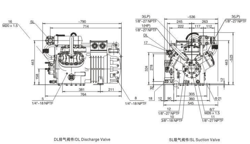 Compressor Refrigeration, Piston Semi-hermetic