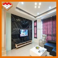 Tv Background Wall Design Black Marquina Marble - Buy Tv ...