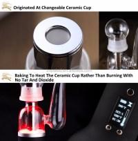 Glass Tobacco Pipe Ceramic Heating Chamber Vaporizer Dark ...