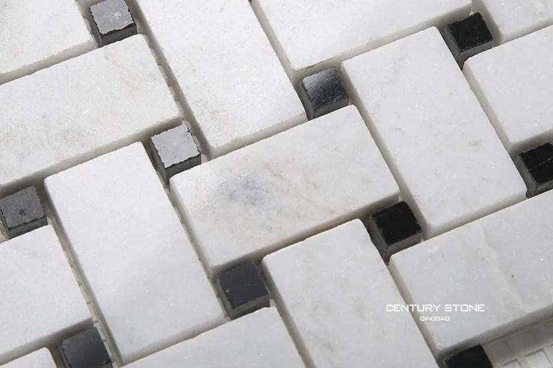 polished basket weave black and white marble mosaic bathroom floor tile view bathroom floor mosaic tile century bathroom floor tile product details