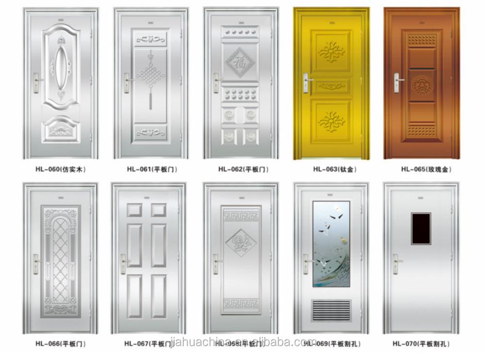 2016 Security Stainless Steel Indian Main Wooden Doors