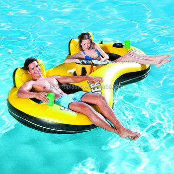 inflatable water chairs for adults big and tall pvc pool float double person chair floating two