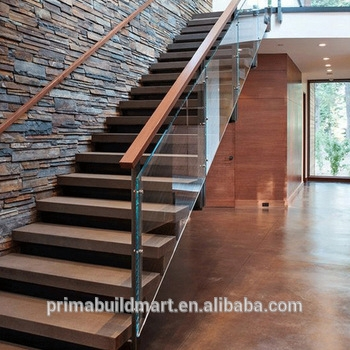 Staircase Design Wood With Glass   Staircase Design Wood Glass   Dark Wood   Modern Style Glass Railing   Spiral   Before And After   Timber