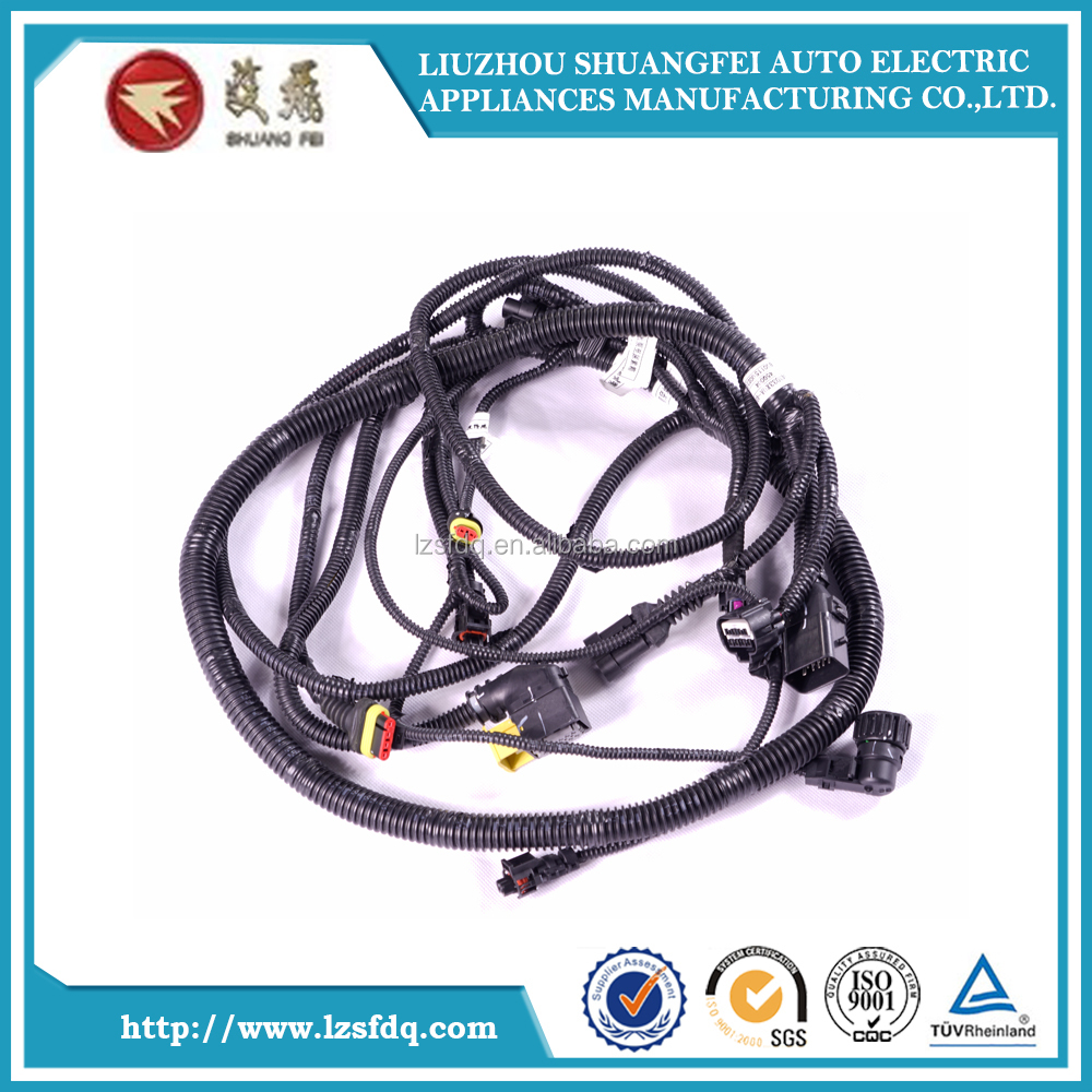 medium resolution of dump truck wire harness and trailer harness asm rr object alarm sen wrg