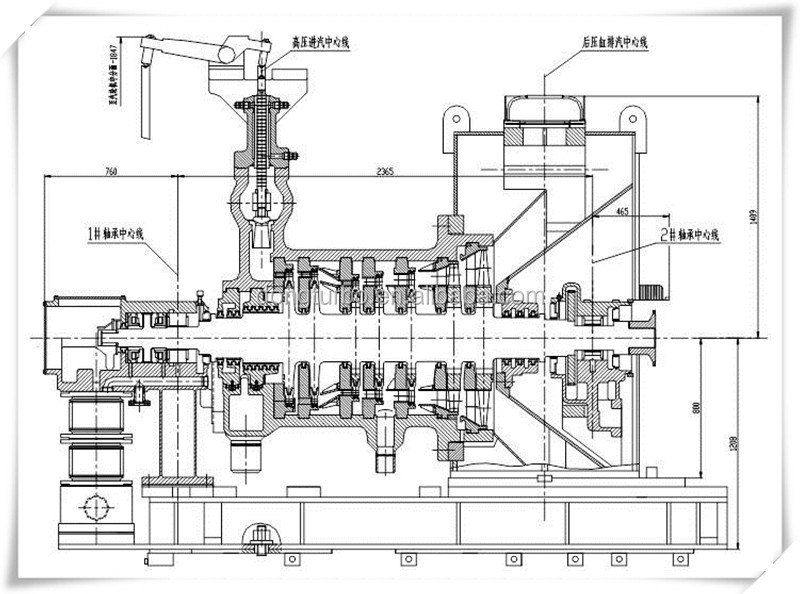 Dtec 0.5mw-50mw Steam Turbine For Thermal Power Plant