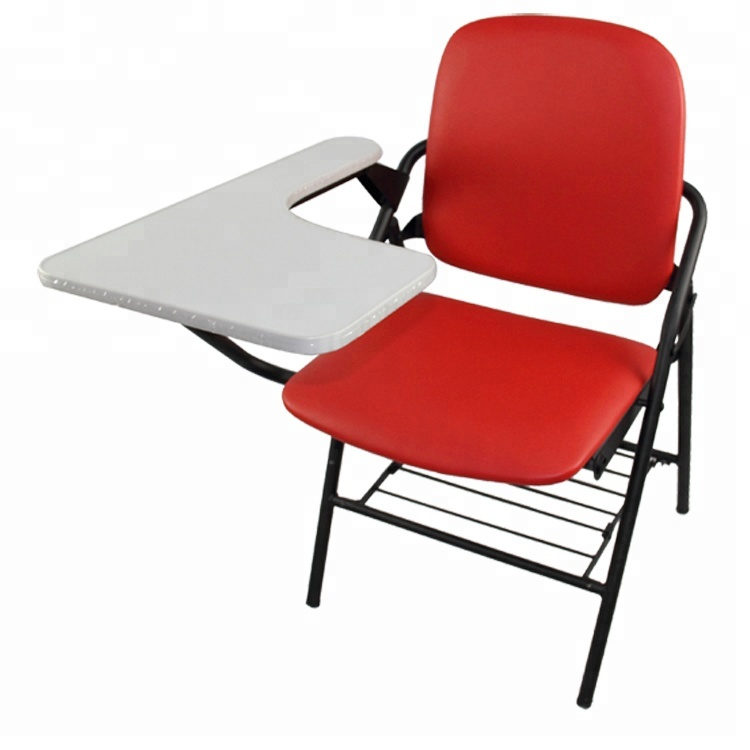 high folding chair apartment size recliner chairs pu padded with tablet school seat cushion quality wholesale price free shipment 50 to malaysia