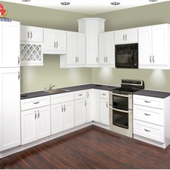 Aluminum Kitchen Cabinets Installation Imitation Wood White Cupboard Cabinet
