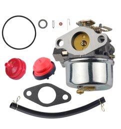 get quotations savior carburetor 640298 with gasket fuel pump line clamps fuel filter inlet needle kit for tecumseh [ 1000 x 1000 Pixel ]