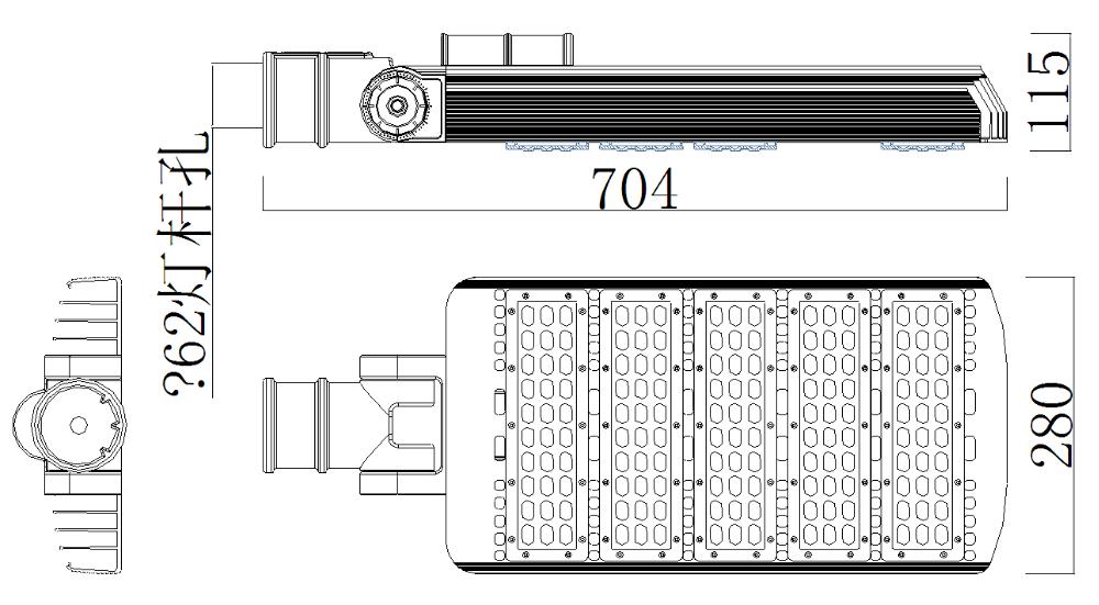 5 years warranty outdoor IP65 50W 60W 90W 100W 120W 150W