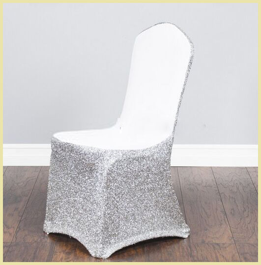 Wholesale Spangle Sequin Spandex Chair Cover For Wedding