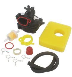 kipa carburetor air filter fuel filter maintenance kit for briggs stratton 590556 lawn mower edger [ 1000 x 1000 Pixel ]