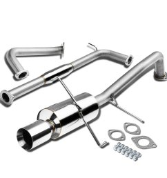 get quotations nissan maxima a33 v6 stainless steel 4 rolled muffler tip catback exhaust system [ 1200 x 1200 Pixel ]