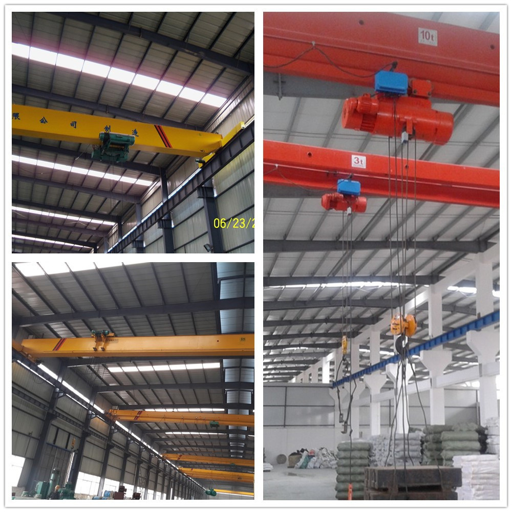 hight resolution of 32 tons monorail single beam overhead crane with end beams manufacturer
