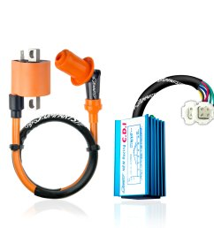 get quotations umparts universal high performance racing ignition coil no rev limit hyper 6 pin ac racing [ 2560 x 2560 Pixel ]