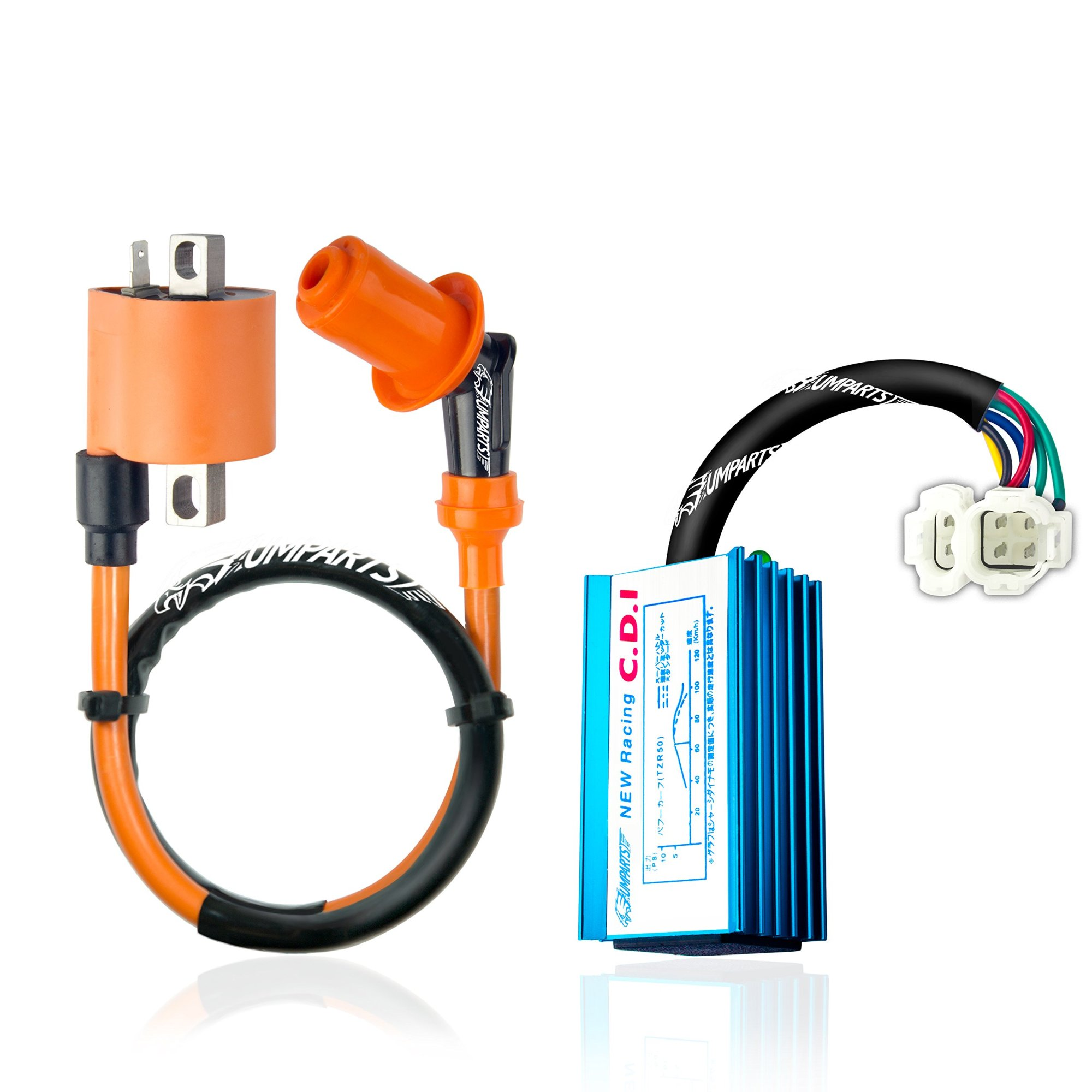 hight resolution of get quotations umparts universal high performance racing ignition coil no rev limit hyper 6 pin ac racing