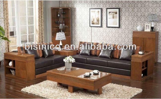 Relaxante Sala De Estar Sofá De Madeira Sólida Conjunto