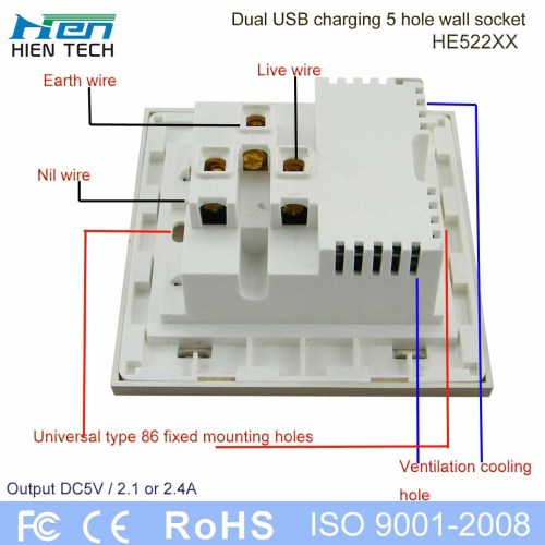 small resolution of usb extension socket with led night light 240v 13amp