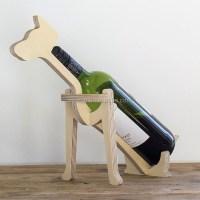 En bois Vin Porte-Bouteille Rack, vin bouteille animal ...