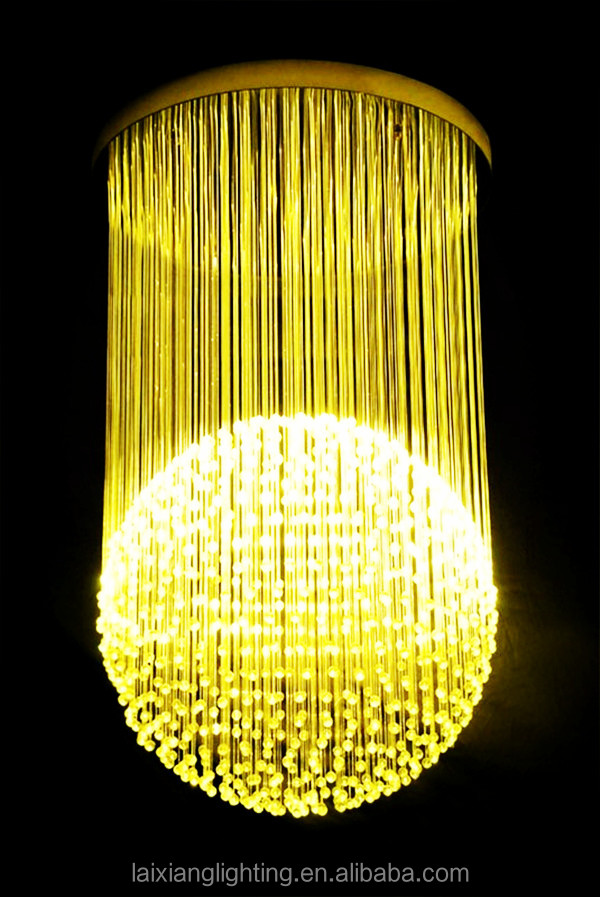 High Quality Glass Chandelier Fabric Shades Italy Crystal Light Contemporary Pendant Fixture Teardrop