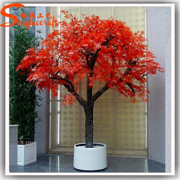 Guangzhou Supplier Wholesale Artificial Plastic Fake Japanese Bonsai Tree Mini Trees Price