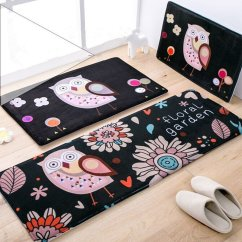 Owl Kitchen Rugs Square Table Sets Cheap Rug Find Deals On Line At Alibaba Com Get Quotations Ustide Black And Flowers Bathroom Set Memory Foam Soft Coral Fleece