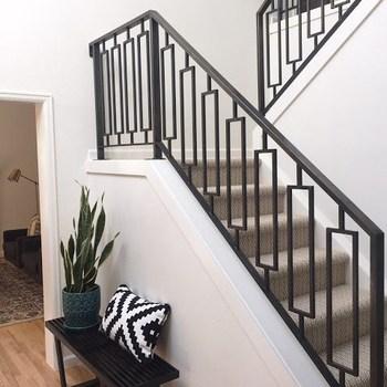 Decorative Indoor Steel Stair Railing Design And Iron Balustrades   Stair Railing Design Iron   L Shape   Home   Residential   Aluminum   Oak And Iron