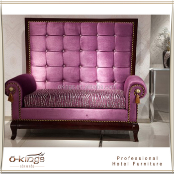 high back sofa and loveseat single design purple velvet for hotel room buy