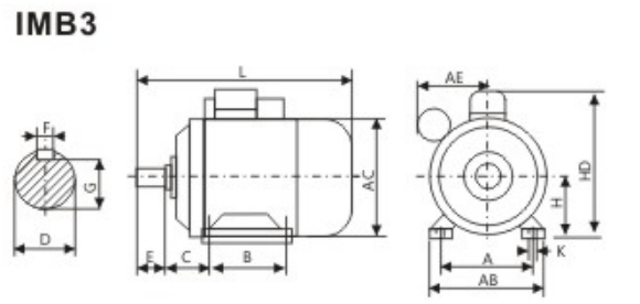 Yc Capacitor Start 2hp Single Phase Asynchronous Motor