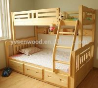 Wooden Bed Modern Kids Double Deck Bed - Buy Kids Double ...
