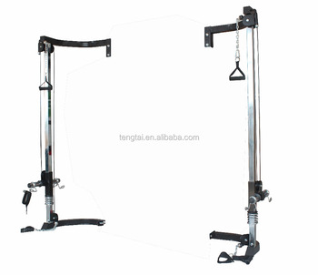 Home Gym Fitness Rig Cage With Cable Crossover Attachment
