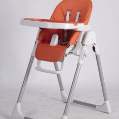 Baby Eating Chair Back Support For Office Singapore Stylish Easy To Clean And Soft Padded Seat Orange Plastic En14988 Approved