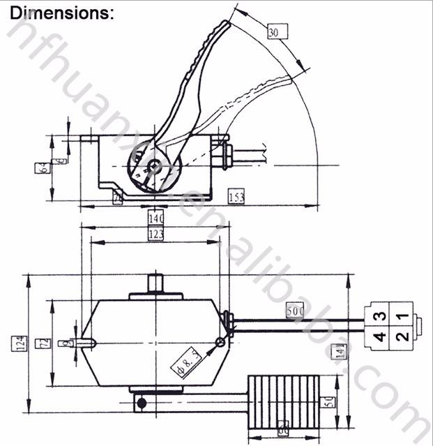 Throttle Foot Rjsq-001 0-5k Electric Accelerator For Ev