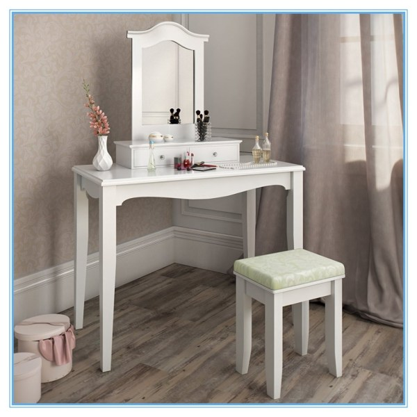 Cheap Wooden Dressing Table Makeup Vanity Set With Stool