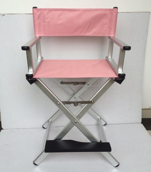 personalized makeup chair small slipcovers 2016 new color rosegold aluminum finish cheap folding director beach