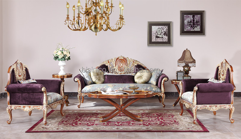 retro living room furniture sets chair set great british royal gold painting sofa classical carved wooden