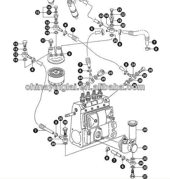 Diesel engine parts 4TNE98 primer pump, View truck auto