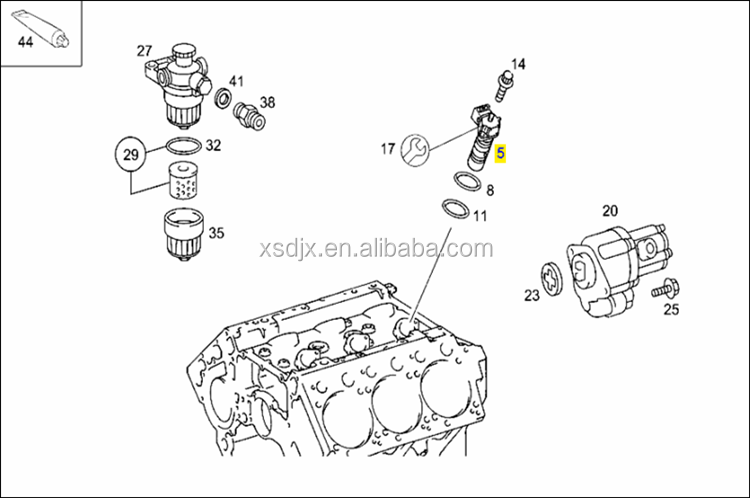 Spare Parts For Mercedes Benz Actros Truck Fuel Injection