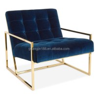 Modern Italian Stainless Steel Chair Armchair