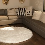 Buy 7 Diameter White Round Area Rug Plush Faux Fur Fake