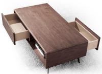 Modern Walnut Color Wood Cafe Table Living Room Furniture ...