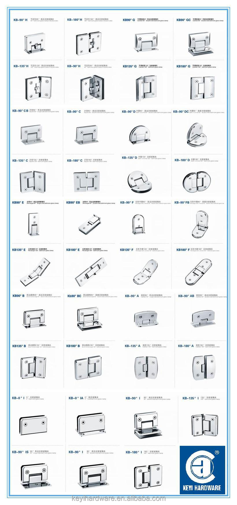 Commercial Fix Clamp,Wall To Glass Door Hinge,Stainless