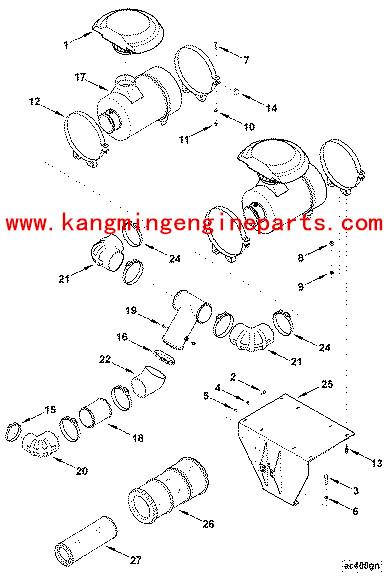 Auto Car Air Filter For Fleet Gud Kta19 Generator Sets