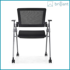 Office Chair No Wheels Arms Brushed Aluminum Chairs 878c 2016 Luxury Chairs/meeting Room With Writing Tablet /fashionable Folding ...