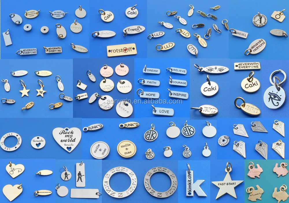Custom Logodesign Goldsilvernickle Bead Pendant Jewelry