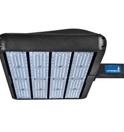 hyperikon parking lot lights led shoebox pole light 400w hid hps replacement  [ 2560 x 2218 Pixel ]